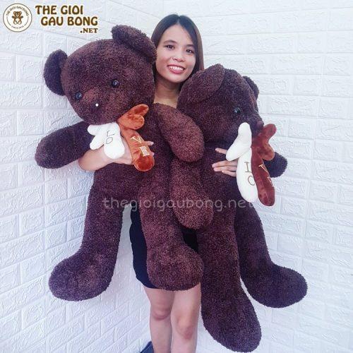 Gấu bông 1m lông sợi chỉ cao cấp