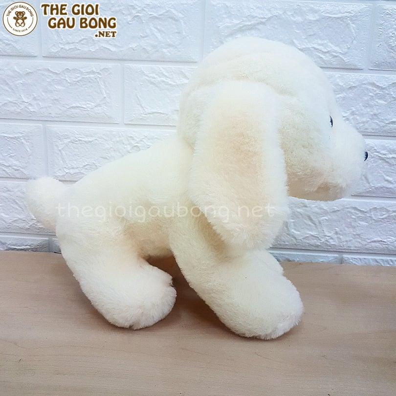 gấu bông cún trắng nghộ nghĩnh