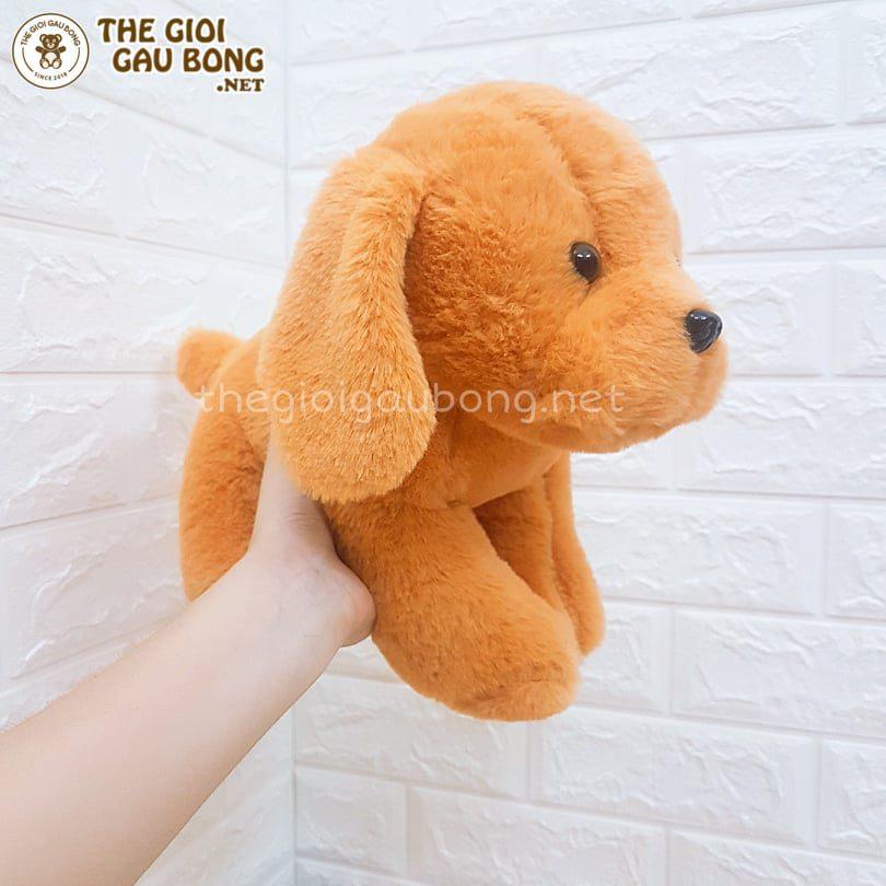 cún bông 30cm vàng dễ thương