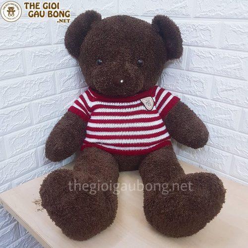 gấu teddy áo kẻ 1m