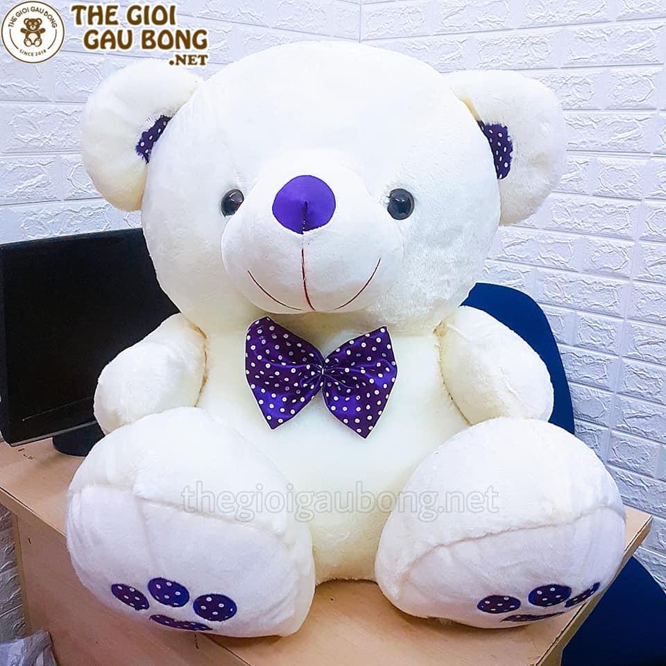Gấu bông teddy nơ chấm bi size 90cm