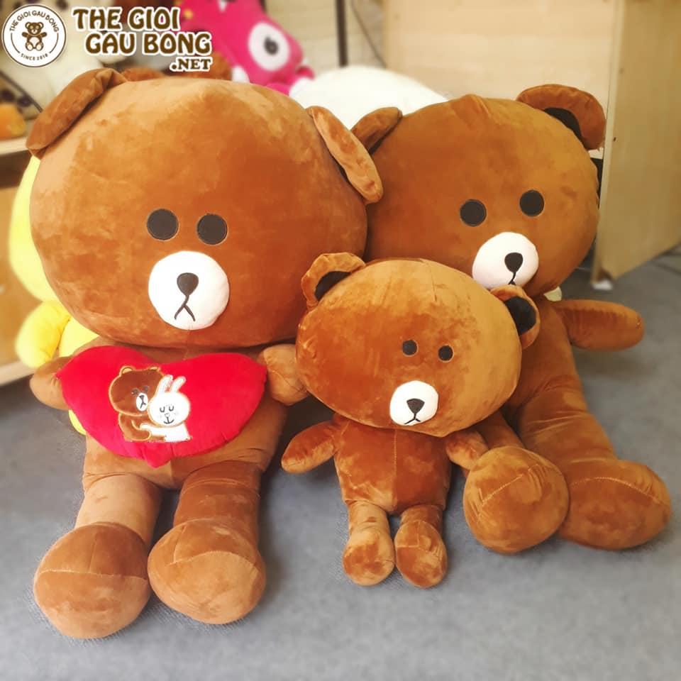 Gấu bông brown có size 1m4, 1m1, 80cm, 50cm, 30cm