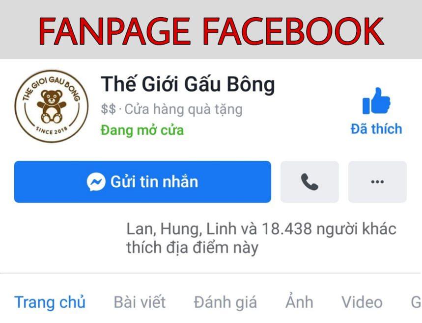 Mua gấu bông 1m5 tại Fanpage Facebook Thegioigaubong.net