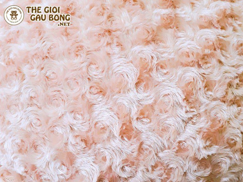 Xưởng Hà Nội may vải lông xoắn hoa hồng cực xinh