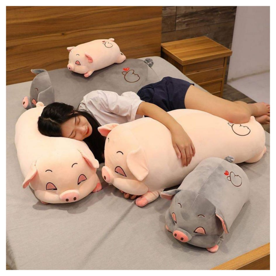 Lợn bông vừa ôm vừa gối